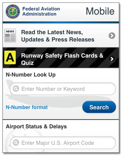 About FAA Mobile 1.1