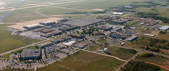 Aerial Image of the Mike Monroney Aeronautical Center