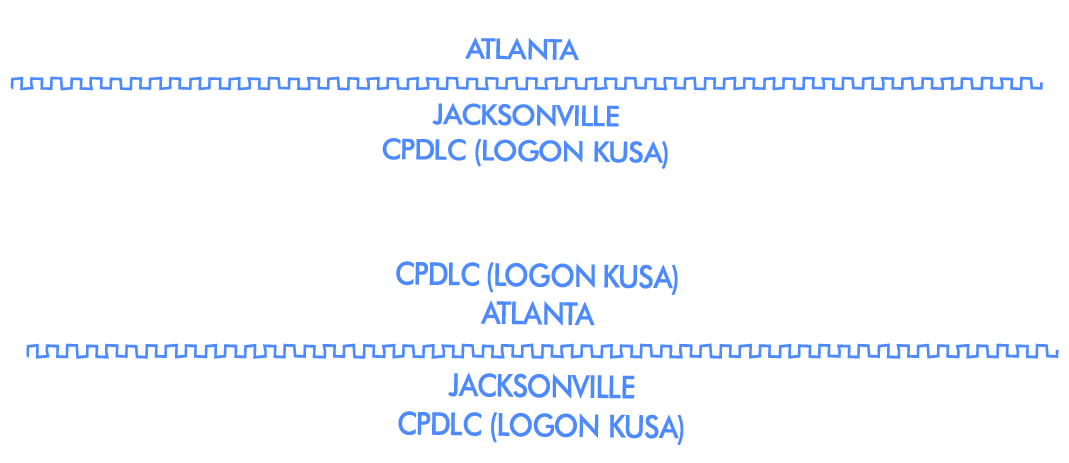 Faa aeronautical chart users guide two examples of cpdlc along artcc boundaries keyboard keysfo Choice Image