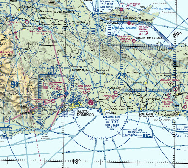 Caribbean vfr aeronautical charts
