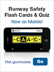 Runway Safety Flash Cards & Quiz