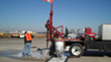 Video of MCO airport RWSL construction (core drill)