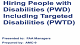 (Online Version) Hiring People with Disabilities (PWD) and Targeted Disabilities (PWTD)