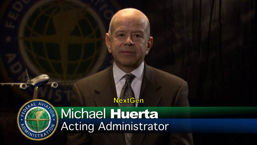 Michael Huerta, FAA Acting Administrator, introduces i2i