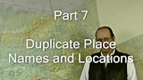 Alaska VFR Routes Part 7, Alaska Duplicate Place Names and Locations