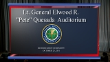 "FAA Rededication of the Elwood Richard ""Pete"" Quesada Auditorium"